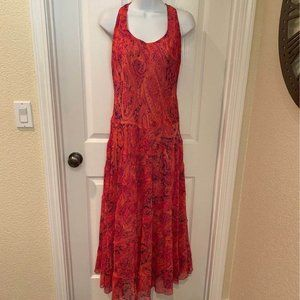 PRETTY PINK PAISLEY TIERED MAXI DRESS